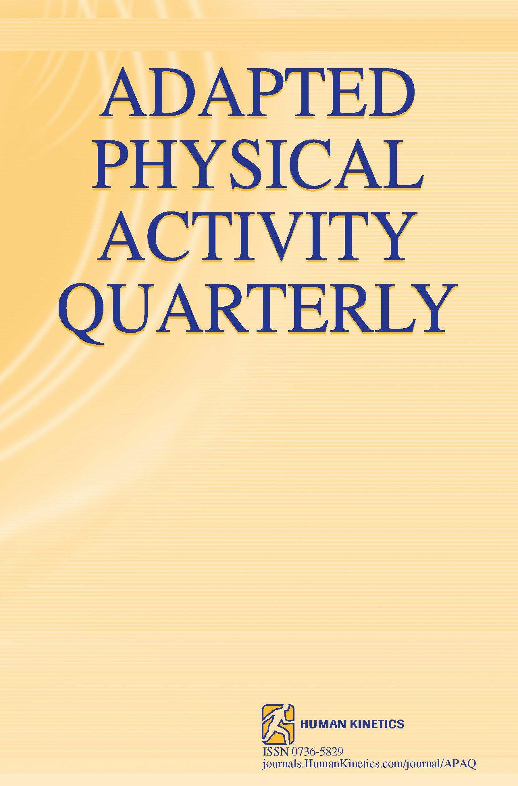 Adapted Physical Activity Quarterly Human Kinetics