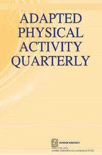 Cover Adapted Physical Activity Quarterly