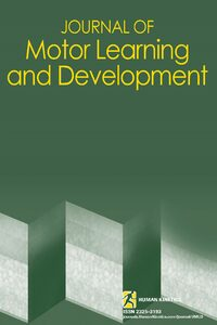 Cover Journal of Motor Learning and Development