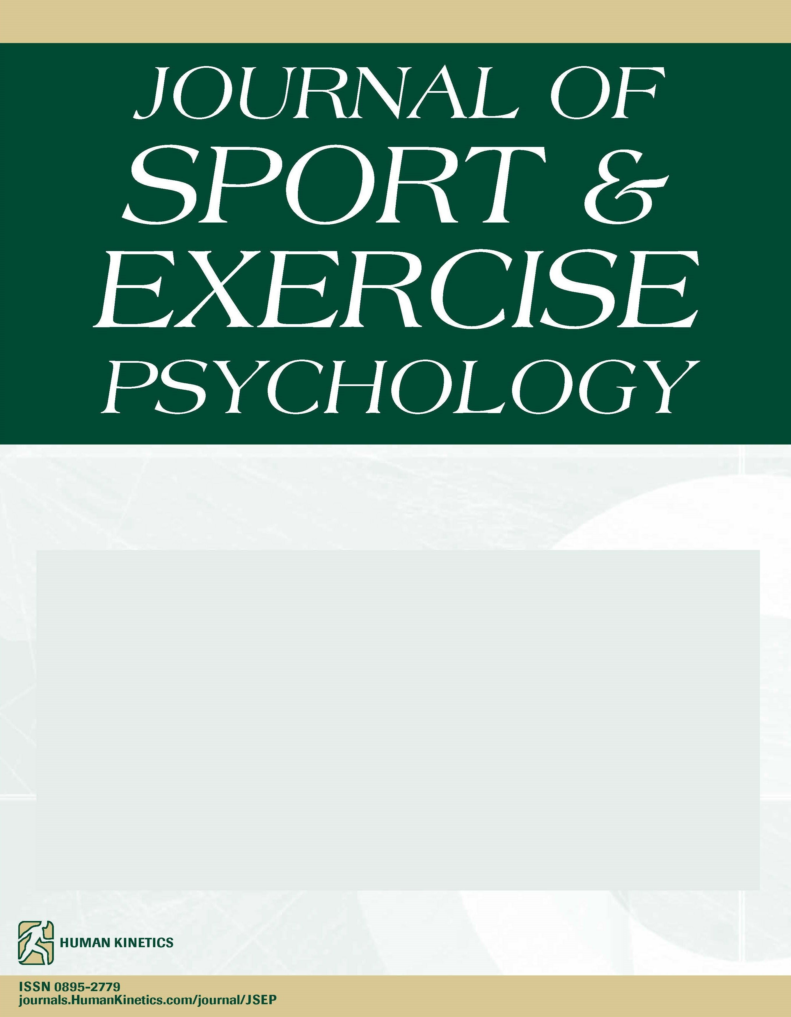 Journal Of Sport And Exercise Psychology Human Kinetics