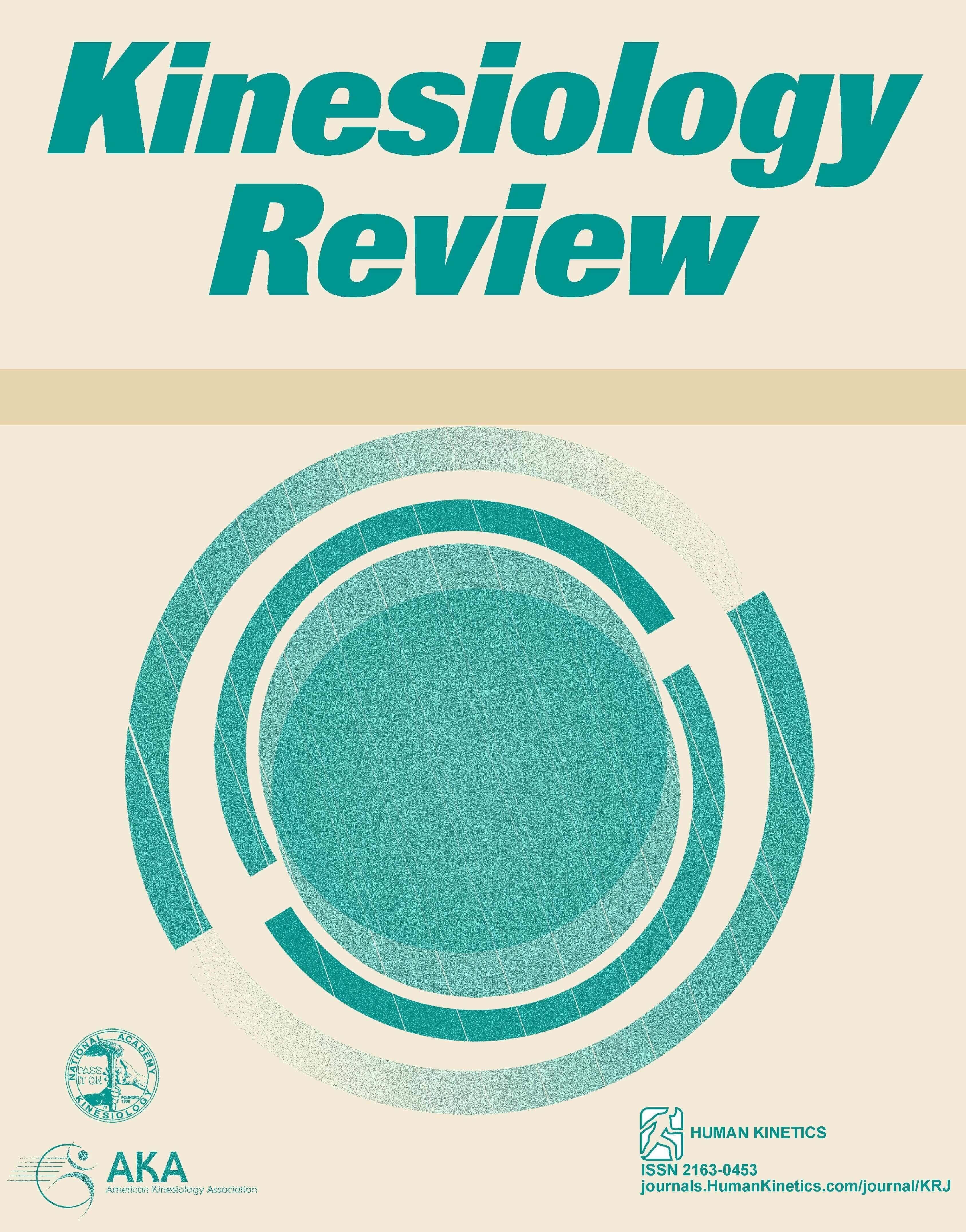 Kinesiology Review Human Kinetics